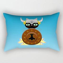 Feline Viking Rectangular Pillow