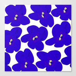 Blue Retro Flowers #decor #society6 #buyart Canvas Print