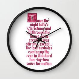 The Night Before Christmas Wall Clock