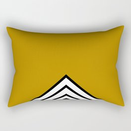 MUSTARD BLACK AND WHITE STRIPES Rectangular Pillow