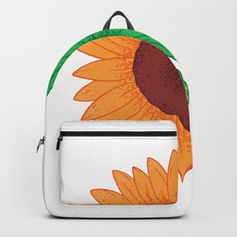 Sunflower with grass Backpack