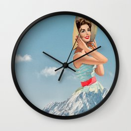 poetry of nature Wall Clock