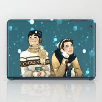 kevin russ iPad Cases featuring Kevin & Cas - Supernatural by Justyna Rerak