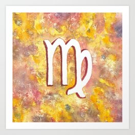 Zodiac sign : Virgo Art Print