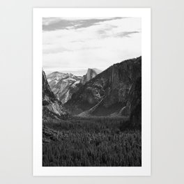 Yosemite Half Dome Veiw of Valley Art Print
