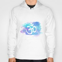 om Hoodies featuring Om by Ashley Hillman