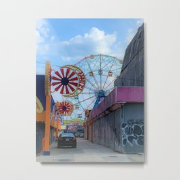 Wonder Wheel Metal Print
