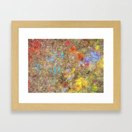 Aftermath of a Color Explosion Framed Art Print
