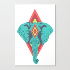 Neon Elephant Canvas Print