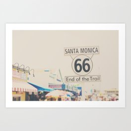the end of route 66 ... Art Print