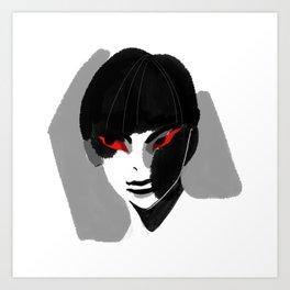 Red Eyed Boy Art Print