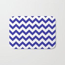 Chevron (Navy & White Pattern) Bath Mat