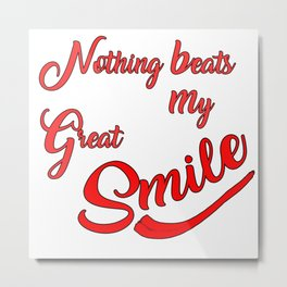 My Great Smile Metal Print