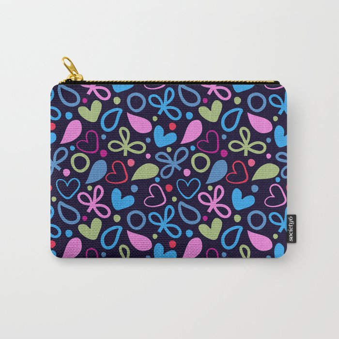 Colorful Lovely Pattern XVIII Carry-All Pouch