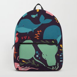 Sea creatures 001 Backpack