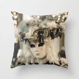 Mask in Venice Italy carnival 2018 Throw Pillow