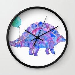 Tie Dye Stegosaurus with Balloon Wall Clock