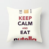 nutella Throw Pillows featuring Nutella by Iotara