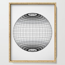 Wire Planet2 -BG white- Serving Tray