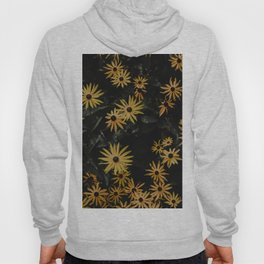 YELLOW AND BLACK FLOWERS IN CLOSE UP PHOTOGRAPHY Hoody