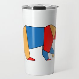 low poly bear Travel Mug