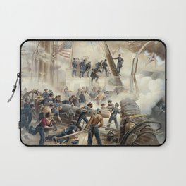 Civil War Naval Battle Laptop Sleeve