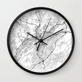 Minimal City Maps - Map Of Birmingham, Alabama, United States Wall Clock