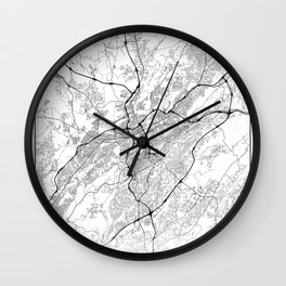 Minimal City Maps - Map Of Birmingham, Alabama, United States Wall Clock