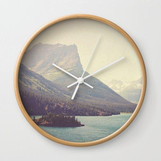 Retro Glacier Wall Clock