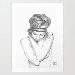 Self Embrace Art Print