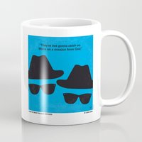 blues brothers Mugs featuring No012 My Blues brothers minimal movie poster by Chungkong