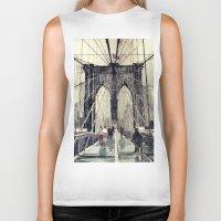 brooklyn bridge Biker Tanks featuring Brooklyn Bridge by takmaj