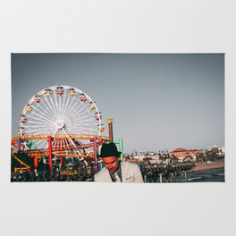 Santa Monica Pier wheel Rug