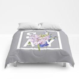 cuz i slay Comforters