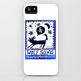 Wolf Song Rev Blue iPhone Case