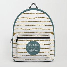 Comfort Zones Quote Backpack