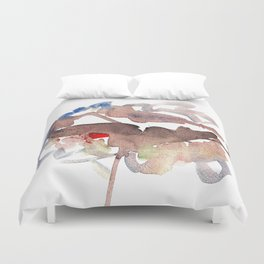 My name is watercolor Duvet Cover
