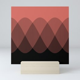 Orange cream ombre signal Mini Art Print