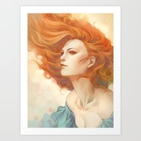 artgerm Art Prints featuring Pepper Breeze New by Artgerm™