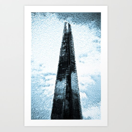 """ The Shard""  With Shards Art Print"