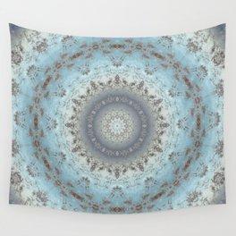 Gray blue kaleidoscope Wall Tapestry