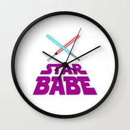 Pink Star babe  Wall Clock