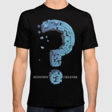 Question Creator Mens Fitted Tee Black LARGE