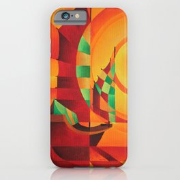 Cubist Junks on A Red Sea iPhone Case