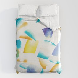 180719 Koh-I-Noor Watercolour Abstract 38 | Watercolor Brush Strokes Duvet Cover