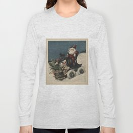 Vintage Santa Claus in a Motorized Sleigh (1920) Long Sleeve T-shirt