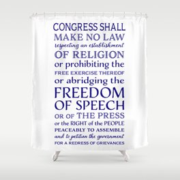 Defend Your Freedom of Speech Shower Curtain
