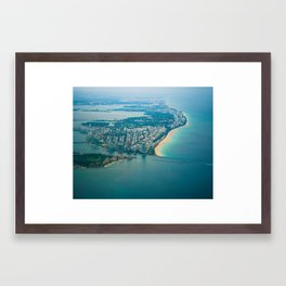 Miami Aerial Framed Art Print