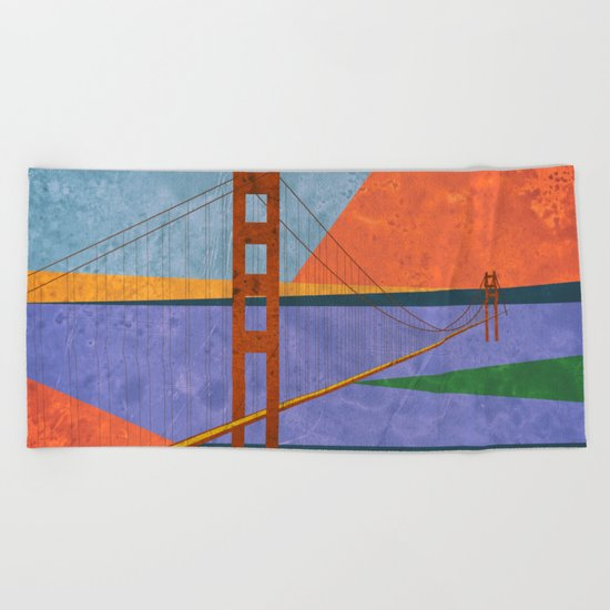 Golden Gate Bridge II Beach Towel