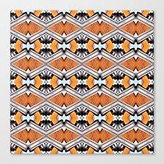 Orange and Neon Canvas Print